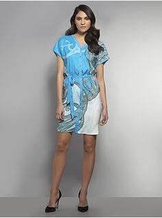 Paisley Print Shirtdress