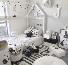 Monochrome kids bedroom