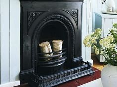 Restoring a cast-iron fireplace
