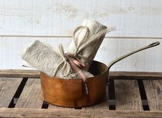 NATURAL French country  Linen Towels/ shabby chic from PARIS