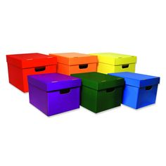 """UV coating for glossy look and extra protection. Set of 6 in assorted colors. 10 1/8""""H x 12 1/4""""W x 1 51/4""""D."""