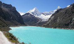 Cordillera Blanca and Laguna Parón, Ancash, Perú.