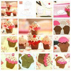 Cupcake's van vilt natuurlijk lekker zelf maken. Kijk voor vilt eens op http://www.bijviltenzo.nl