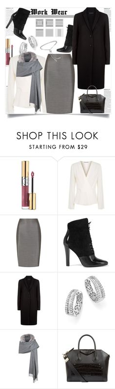 """Work Wear"" by helenaymangual ❤ liked on Polyvore featuring Yves Saint Laurent, Elizabeth and James, MaxMara, 3.1 Phillip Lim, The Row, Bloomingdale's, Burberry and Givenchy"