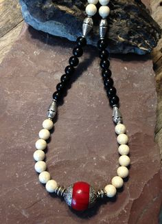 Tibetan Necklace Handmade Beaded Hippie by TheHippieBohemian, $37.00