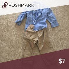 Matching outfit Children's place khakis and polo shirt worn once The Children's Place Matching Sets