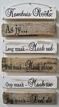Vinyl Quotes, Home Quotes And Sayings, Afrikaans Quotes, Pallet Designs, Diys, Prayer, Sticker, Scrapbooking, Decor Ideas