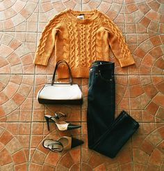 Found at Common Sort - Jcrew sweater, Nudie jeans, vintage bag and Chanel captoe heels