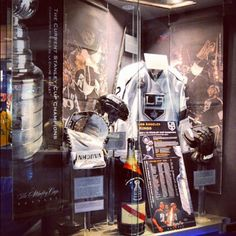@LAKings: Our Stanley Cup Champion display at the @HockeyHallFame