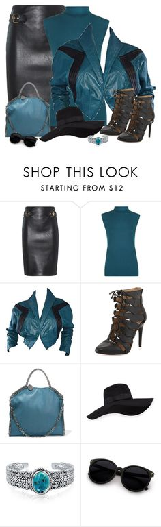 """""""Teal"""" by lorrainekeenan ❤ liked on Polyvore featuring Moschino, WearAll, BCBGMAXAZRIA, STELLA McCARTNEY, San Diego Hat Co. and Bling Jewelry"""