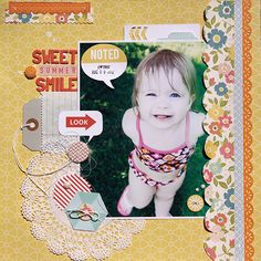 Sweet Summer Smile - Used Studio Calico August Main kit - Summer of '69
