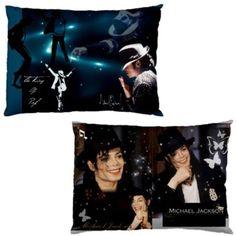 Amazing-Michael-Jackson-Collectible-Photos-Pillow-Case-1-amp-2-Sides