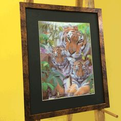 Tiger & Cubs 3D Picture