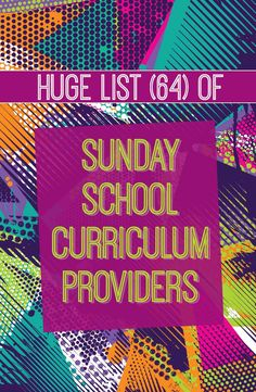 Huge list of every major Sunday School curriculum provider, PLUS links to sample lessons, pricing info, and more #sundayschool #curriculum