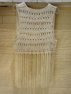 Fringe Festival Top Crochet Bikini Cover Up Summer Beachwear [CFV02] - $32.00 : Tina Crochet Studio, Fashion Anniversary Gifts for Her Handmade Crochet Women Bohemian Accessory