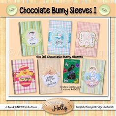 Chocolate Bunny Sleeves I :: Easter :: Holidays :: Aimee Asher Boutique