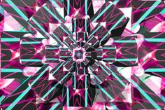 The People We Don't See   Waking Spirals Purple and Teal Wheel - by G A Rosenberg