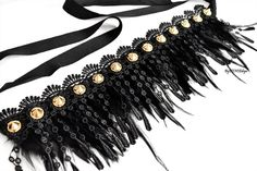Gold Studded Feather CollarBlack Feather Collar Feather | Etsy Festival Outfits, Festival Clothing, Festival Fashion, Ice Shop, Rave Outfits, Party Outfits, Collor, Feather Necklaces, Neck Piece