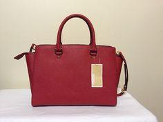 Michael Kors Selma Large Red Leather Women's Satchel Handbag Shoulder Bag #MichaelKors #SatchelHandbagShoulderBag