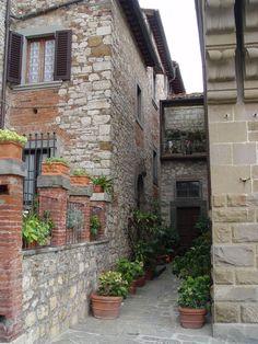 Radda in Chianti. A small Tuscan village.
