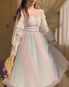 Fairytale Dress, Fairy Dress, Cute Fashion, Girl Fashion, Fashion Outfits, Prom Dresses For Teens, Girls Dresses, Indian Fancy Dress, Gowns Of Elegance