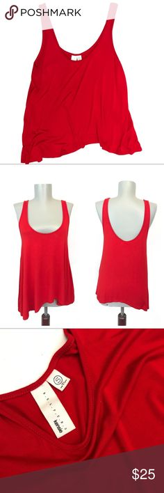 Kensie • Red Tank Top Kensie • Red Tank Top is high low as shown on mannequin above 👆🏽it flows it is also like New. From pet and smoke free home. Kensie Tops Tank Tops