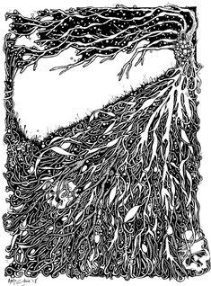 The Dule Tree  Pen & Ink  2018 Jewelry Art, Jewellery, Black Heart, Scotland, Fairy Tales, My Etsy Shop, Ink, Drawings, Artwork