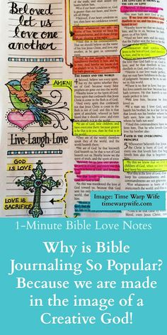 Bible Journaling - It's popular because we are creative beings made in the image of the Creator
