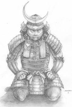SciFi and Fantasy Art Samurai by Russell Ong #samurai #art
