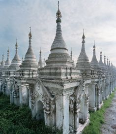 T WINTER TRAVEL - T Magazine: The 729 stupas at Kuthodaw Pagoda in Mandalay each house a marble slab inscribed with Buddhist scriptures and are collectively referred to as the world's largest book. Places To Travel, Places To See, Places Around The World, Around The Worlds, Vietnam Voyage, Mandalay, Future Travel, Winter Travel, Kirchen