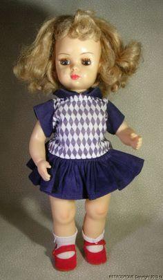 """'50s Vintage Tiny Terri Lee Doll Blonde Walker 10"""" Clean Original"""