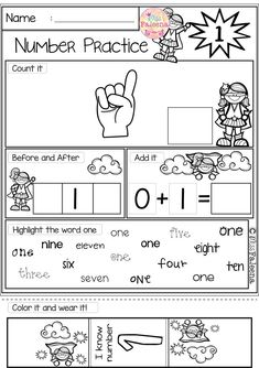 Number 1 20 Practice The Bundle Home School Kindergarten Math First Grade Freebies, First Grade Worksheets, Kindergarten Math Worksheets, Kindergarten Lesson Plans, First Grade Math, Math Resources, Math Activities, Kindergarten Teachers, Number Worksheets