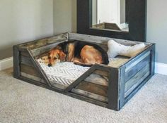 Pallet Doggy Bed home diy craft crafts diy crafts do it yourself diy projects home ideas dog bed diy and crafts