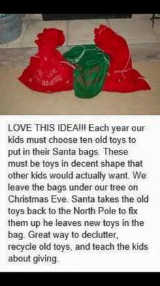 I don't do Santa Claus or anything for Christmas. But when I have kids, and they get lots of gifts, I might consider doing something like this.