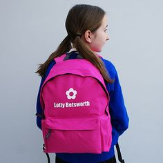 personalised colourful children's backpack by sparks clothing   notonthehighstreet.com