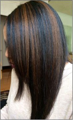 cameral highlight for black women | black hair and caramel highlights black hair caramel highlights black ...