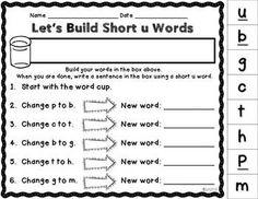 LET'S BUILD WORDS {KINDERGARTEN WORD FAMILIES EDITION} - TeachersPayTeachers.com