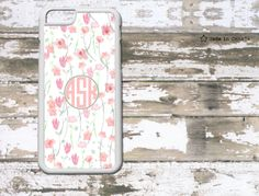 Watercolour Flower Pattern, Floral Phone Case-  iPhone case,  monogram iPhone 6/6 Plus/4/4s/5/5s/5c- samsung s5- monogrammed iphone 5 case by SaidTheOwl on Etsy