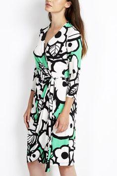 Wallis - £31.50 Green Floral Wrap Dress