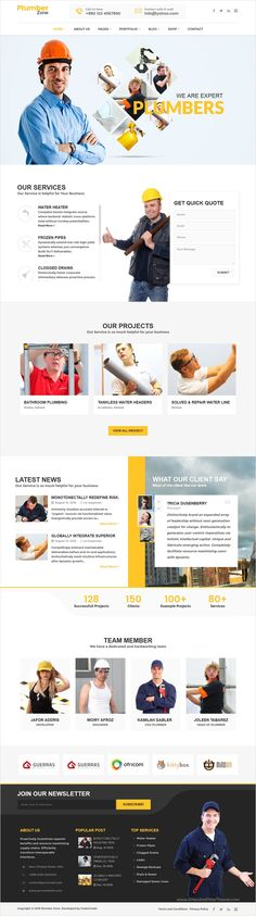 Plumber Zone is a modern and responsive #WordPress theme for #repairing…