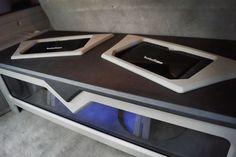 Custom Car Audio, Custom Cars, Custom Speaker Boxes, Car Audio Installation, Subwoofer Box Design, Car Audio Systems, Car Sounds, Rockford Fosgate, Sound Design