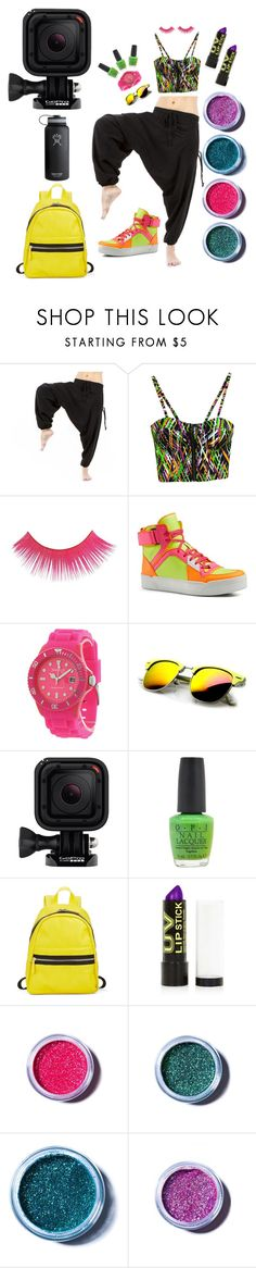 """""""The Ultra Look"""" by buddhapants ❤ liked on Polyvore featuring Gucci, Madison, Revo, GoPro, OPI, Kensie, Topshop, Lime Crime, Hydro Flask and music"""