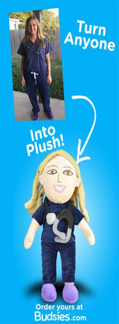 Make a custom plush doll of anyone for $89 - just send us a picture! Now, our Selfies can come with a voice recorder option. Super simple to order and a great gift for people of all ages. Get yours at www.Budsies.com