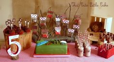 We're Going on a Bear Hunt Birthday Party and 40 other party themes. Book Birthday Parties, Birthday Ideas, Kid Parties, 2nd Birthday, Theme Parties, Childrens Parties, Birthday Board, Hunting Birthday, Hunting Party