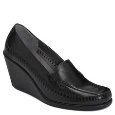 Women's Aerosoles Social Gathering - Black Leather