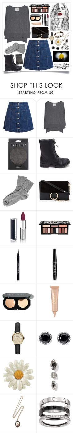 """Invite them to fly as you cut their wings, Tell them to run as you tie their feet"" by looksbyrachel ❤ liked on Polyvore featuring Sans Souci, Friendly Hunting, Topshop, Black, Chloé, Givenchy, Kat Von D, NYX, Bobbi Brown Cosmetics and tarte"