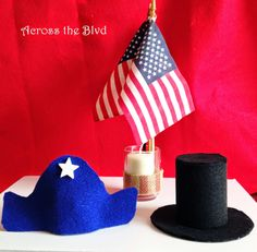 President's Day Miniature Felt Hats