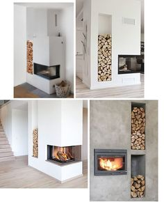 Sponsrat inlägg: Frimurad kamin från Contura (Trendenser) - New Deko Sites Home Fireplace, Modern Fireplace, Living Room With Fireplace, Fireplace Design, Home Living Room, Living Room Designs, Living Room Decor, Scandinavian Fireplace, Ethanol Fireplace