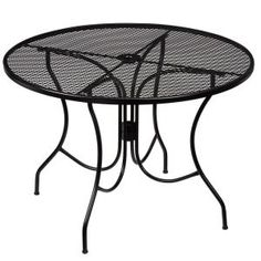 Hampton Bay Nantucket Round Metal Outdoor Dining Table-8243000-0105157 - The Home Depot