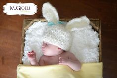 Lamb or Bunny Hat- Photography Prop